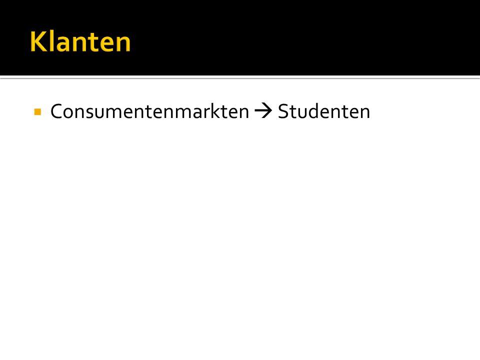 Klanten Consumentenmarkten  Studenten