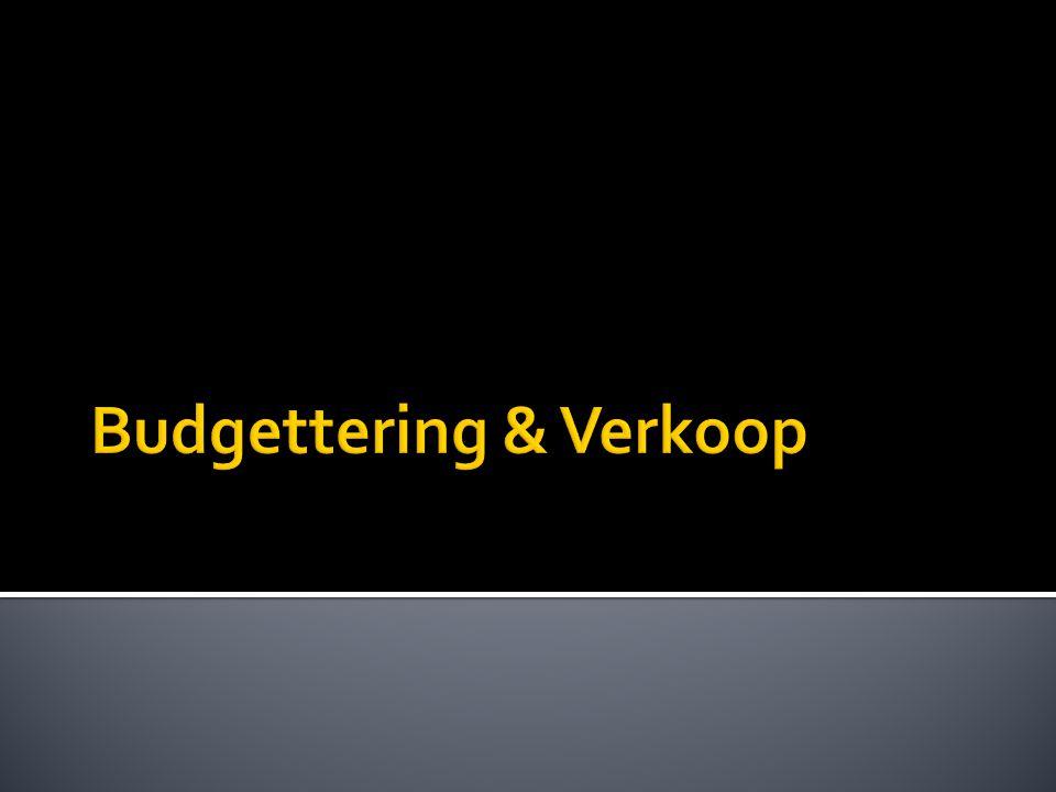 Budgettering & Verkoop