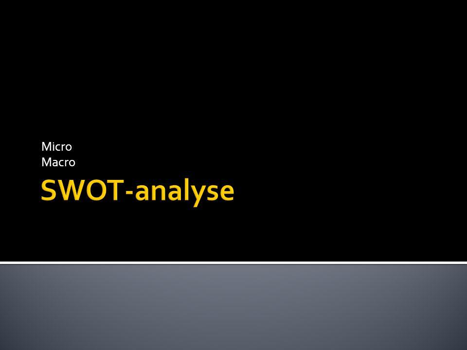 Micro Macro SWOT-analyse