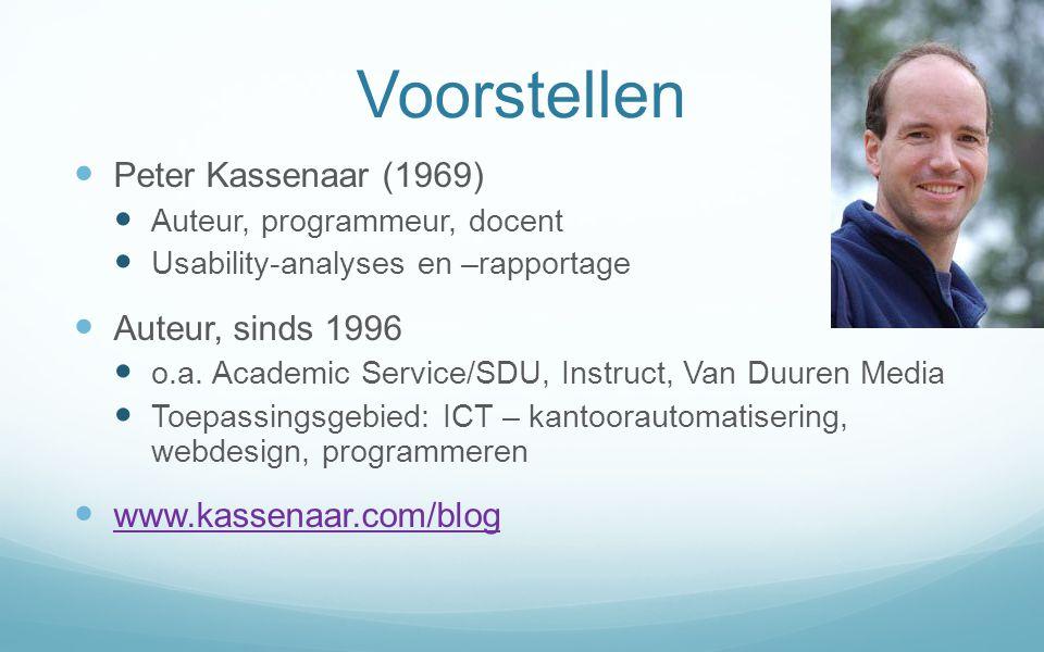 Voorstellen Peter Kassenaar (1969) Auteur, sinds 1996