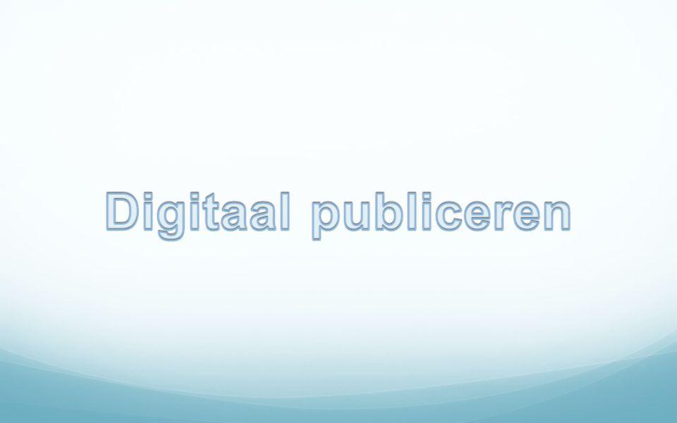 Digitaal publiceren