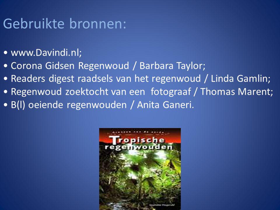 Gebruikte bronnen: • www.Davindi.nl;