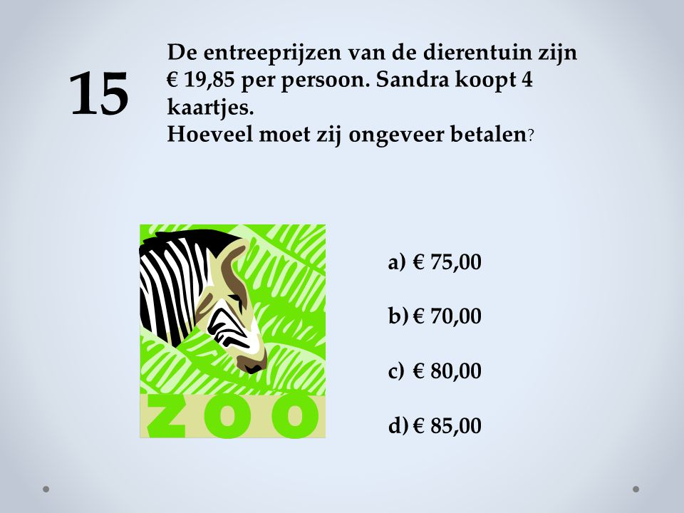 De entreeprijzen van de dierentuin zijn € 19,85 per persoon
