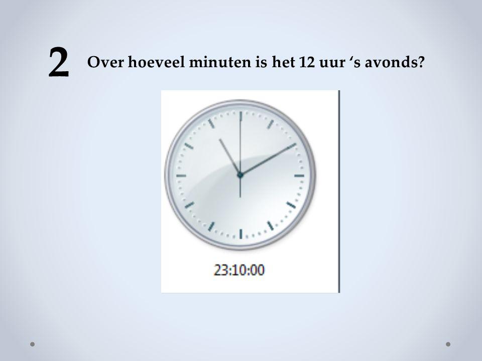 2 Over hoeveel minuten is het 12 uur 's avonds