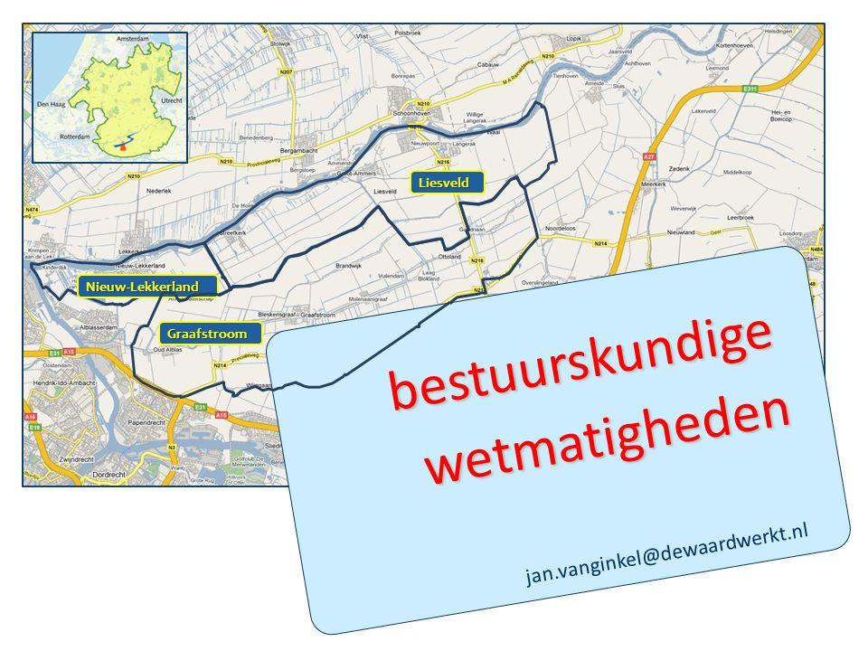 bestuurskundige wetmatigheden jan.vanginkel@dewaardwerkt.nl Liesveld