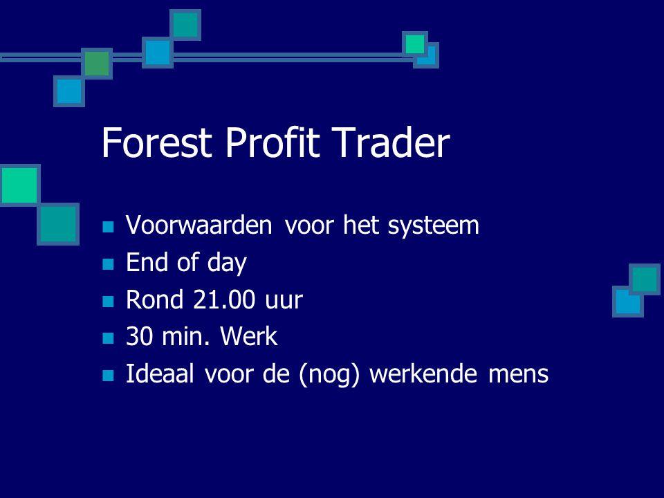 Forest Profit Trader Voorwaarden voor het systeem End of day