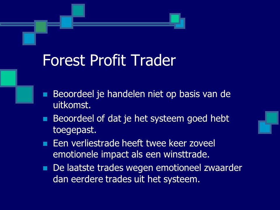 Forest Profit Trader Beoordeel je handelen niet op basis van de uitkomst. Beoordeel of dat je het systeem goed hebt toegepast.