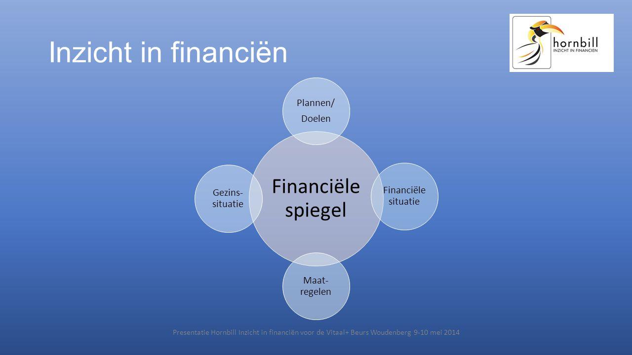 Inzicht in financiën Financiële spiegel Plannen/ Doelen