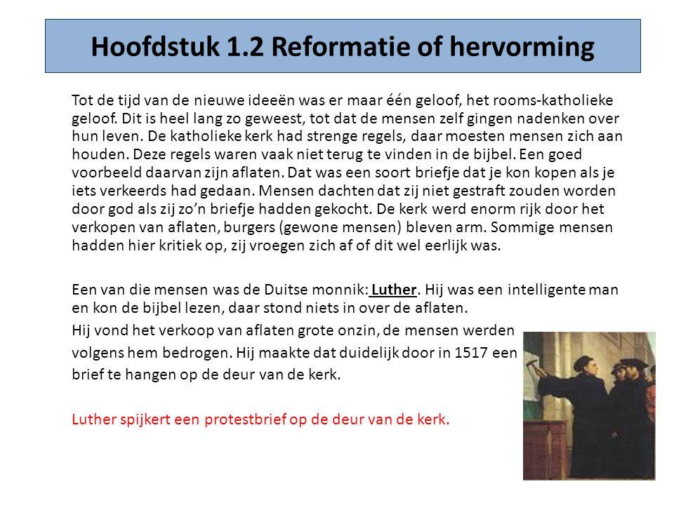 Hoofdstuk 1.2 Reformatie of hervorming