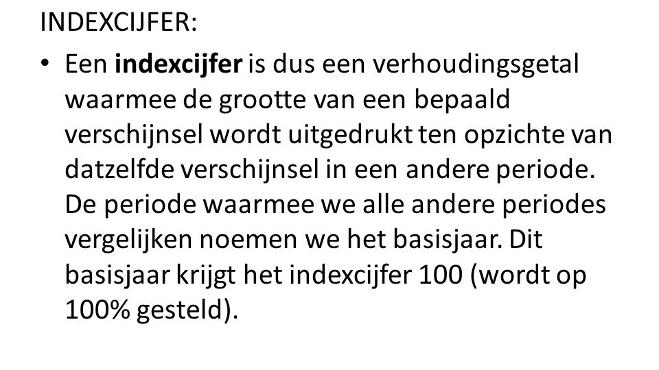 INDEXCIJFER: