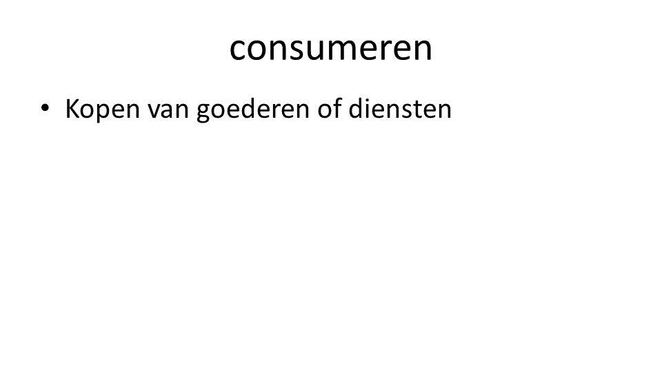 consumeren Kopen van goederen of diensten