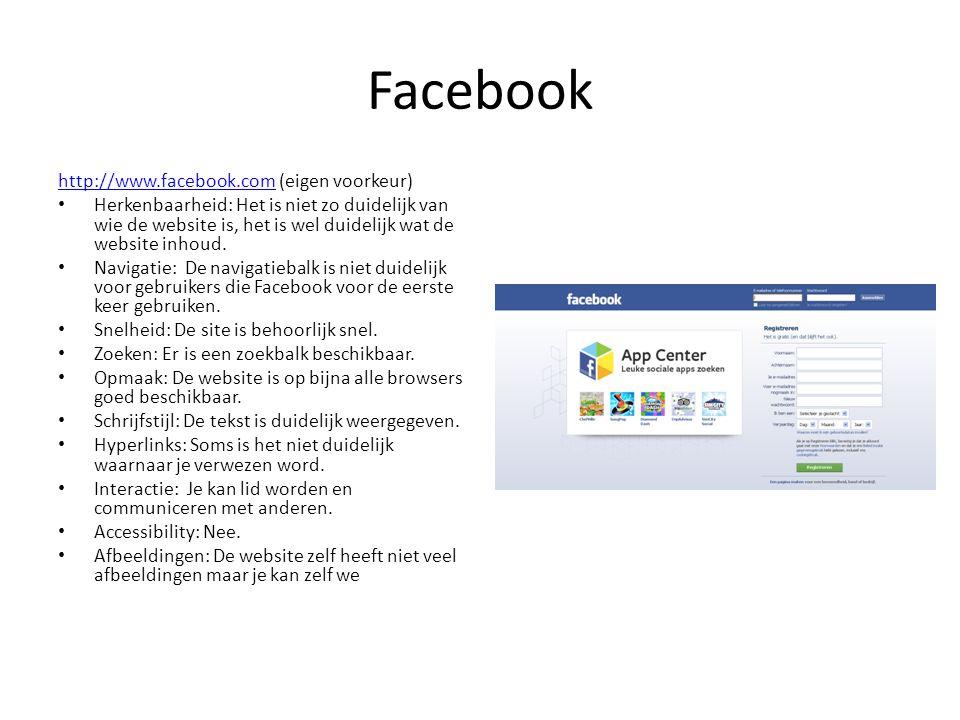 Facebook http://www.facebook.com (eigen voorkeur)