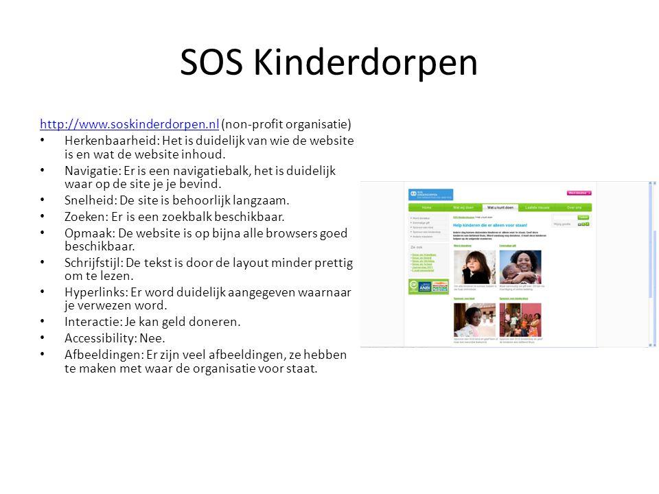 SOS Kinderdorpen http://www.soskinderdorpen.nl (non-profit organisatie)