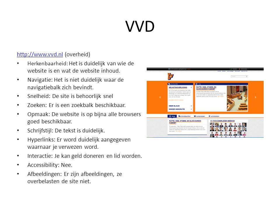 VVD http://www.vvd.nl (overheid)