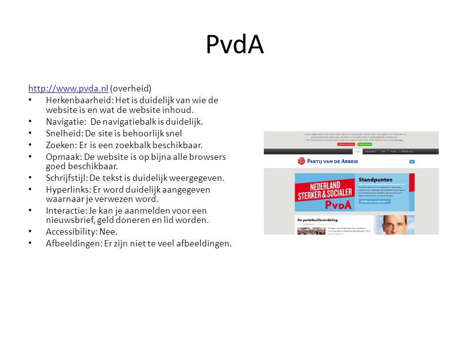 PvdA http://www.pvda.nl (overheid)