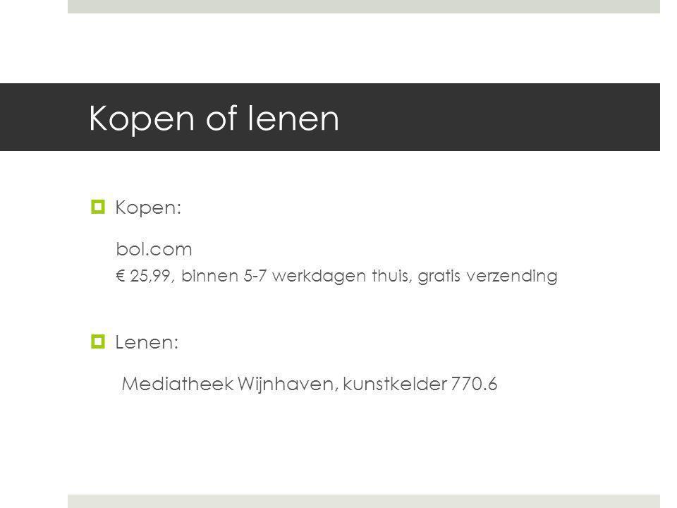 Kopen of lenen Kopen: bol.com Lenen: