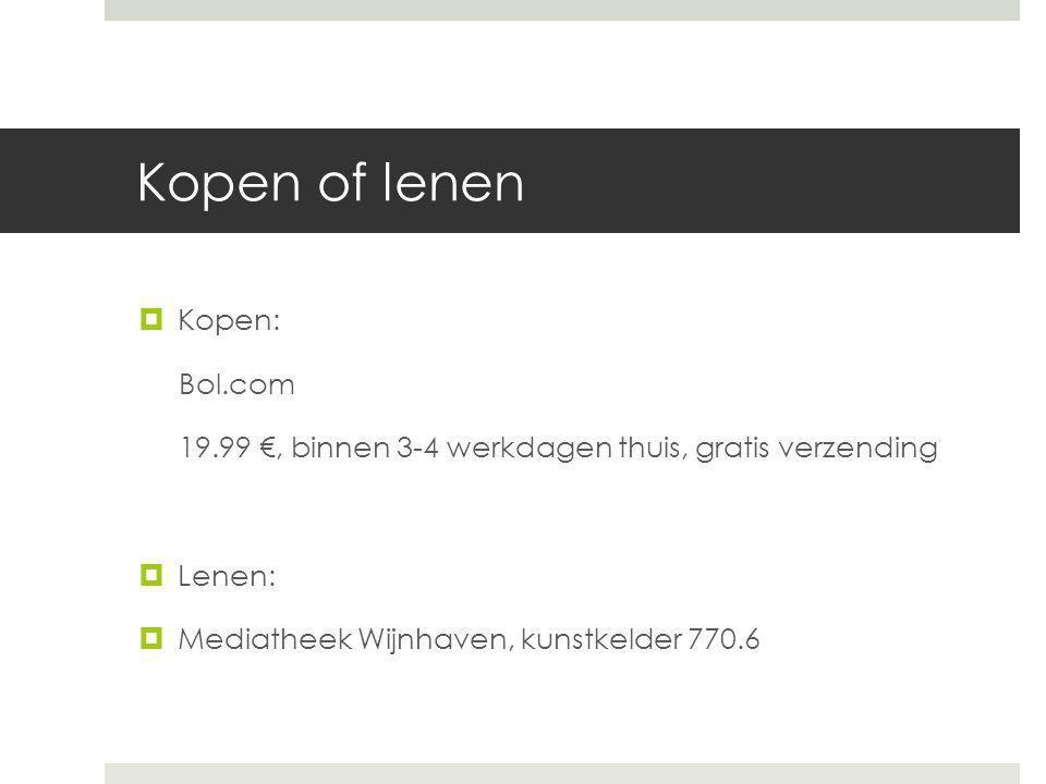 Kopen of lenen Kopen: Bol.com