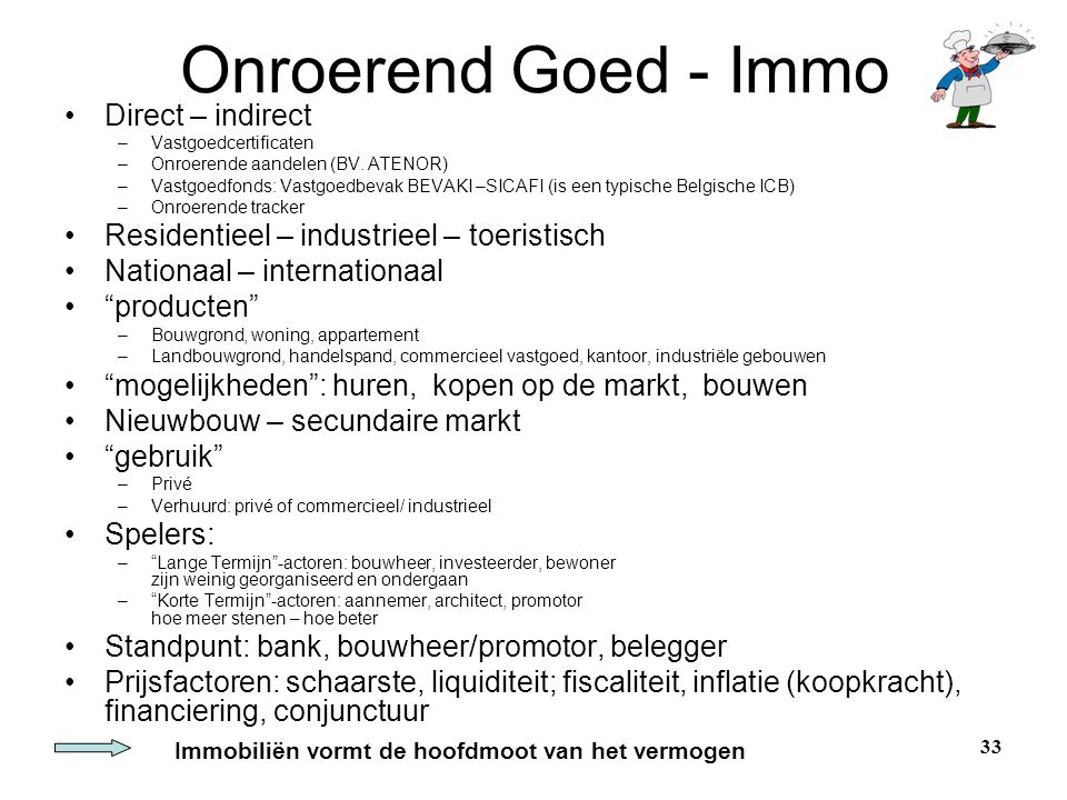 Onroerend Goed - Immo Direct – indirect