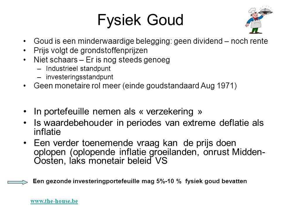 Fysiek Goud In portefeuille nemen als « verzekering »