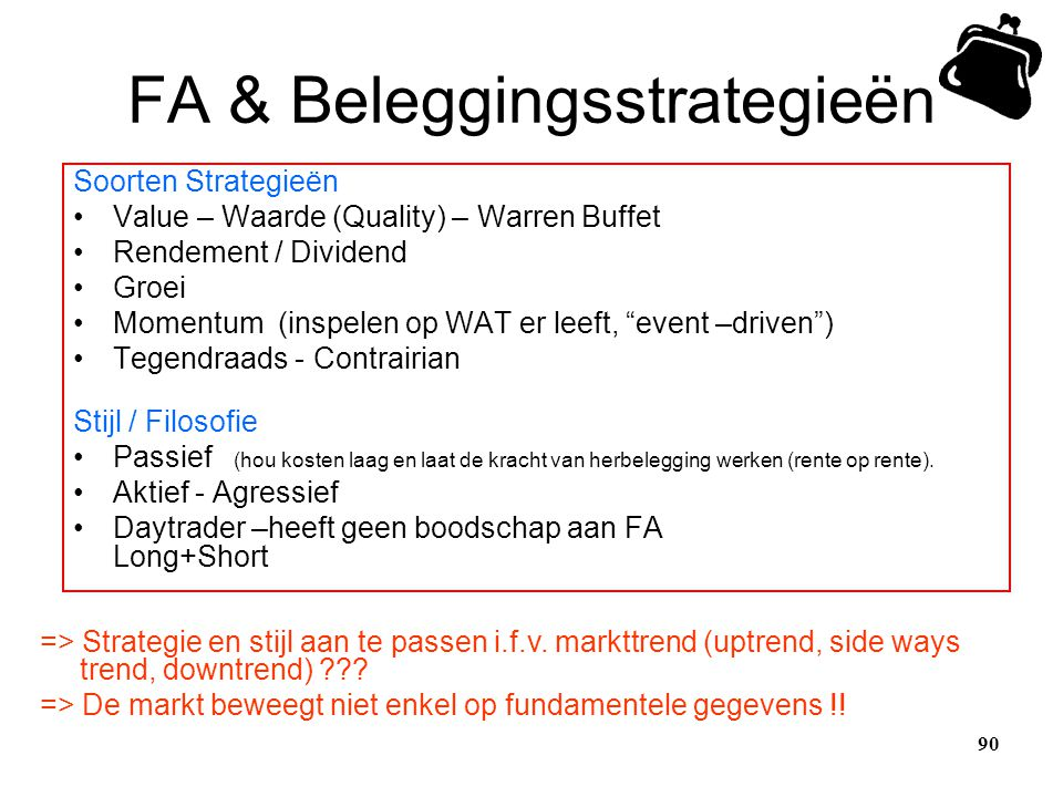 FA & Beleggingsstrategieën