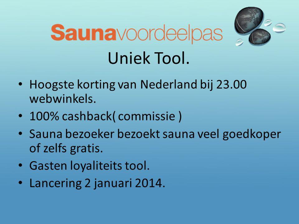 Uniek Tool. Hoogste korting van Nederland bij 23.00 webwinkels.