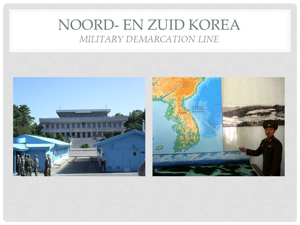 Noord- en Zuid Korea Military Demarcation Line