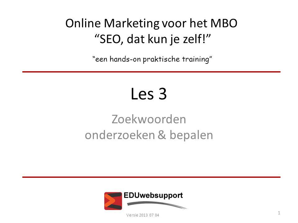 Online Marketing voor het MBO SEO, dat kun je zelf!