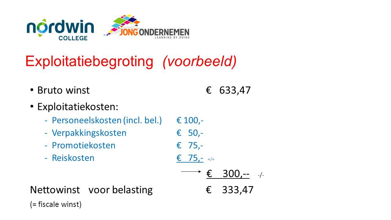 Exploitatiebegroting (voorbeeld)