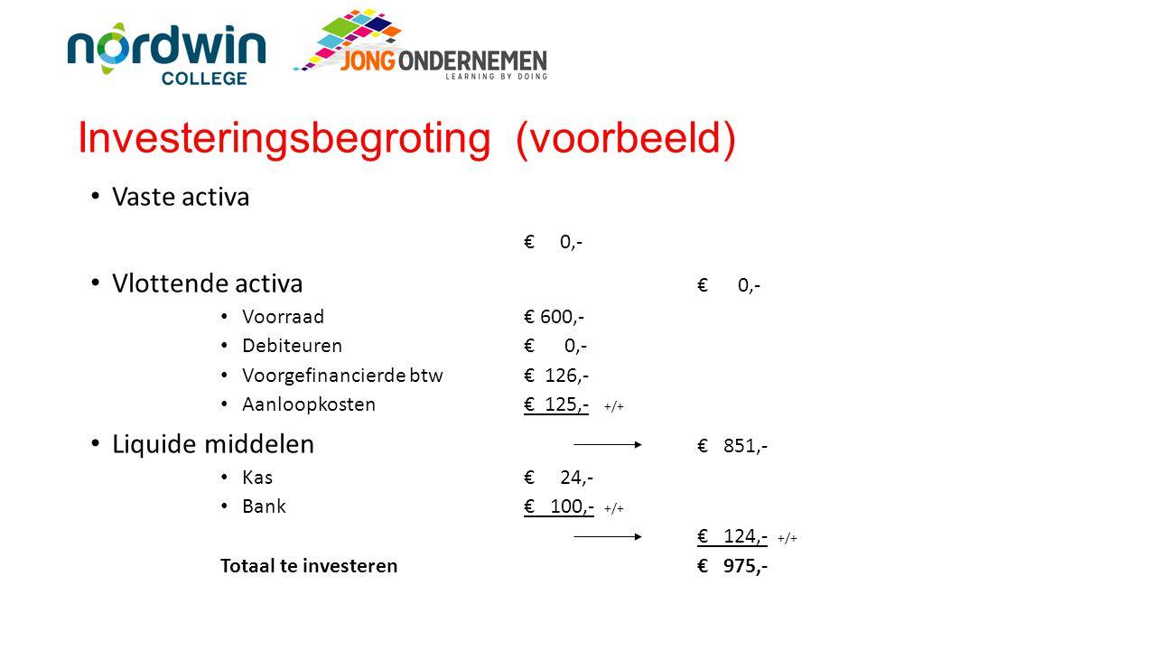 Investeringsbegroting (voorbeeld)