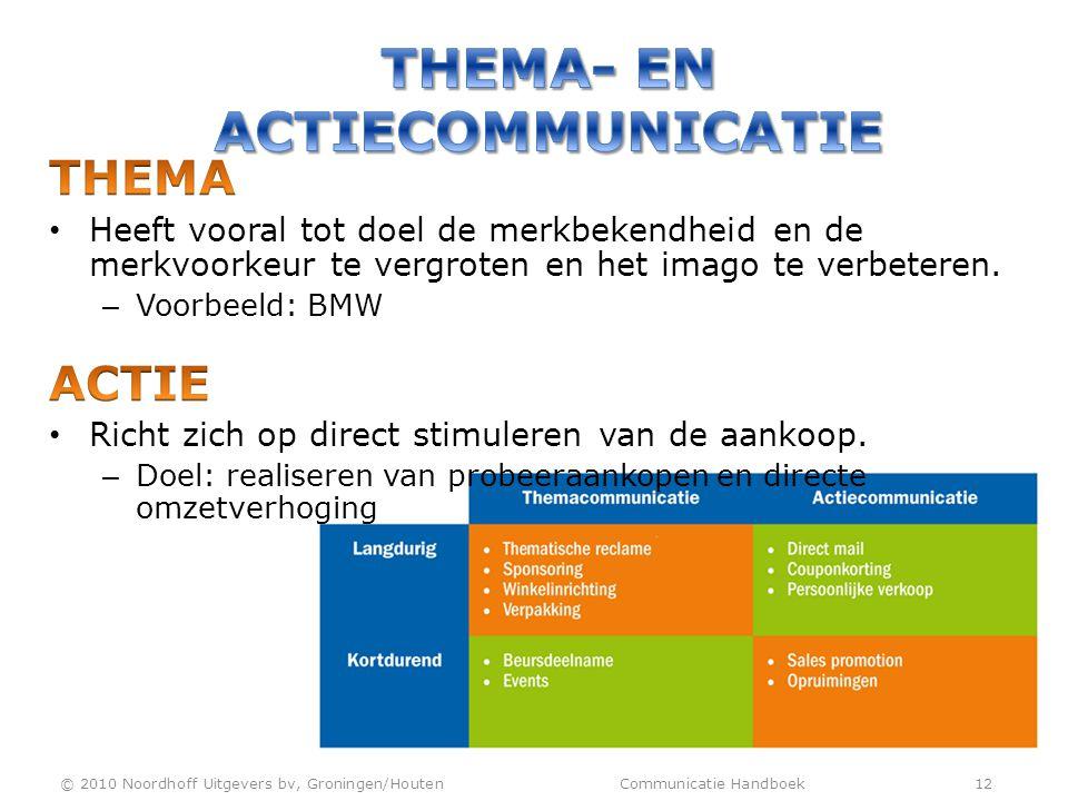 Thema- en actiecommunicatie