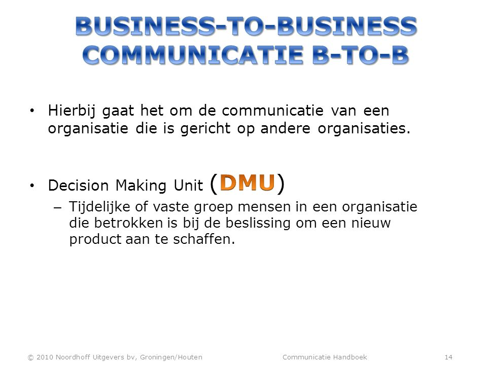 Business-to-business communicatie b-to-b