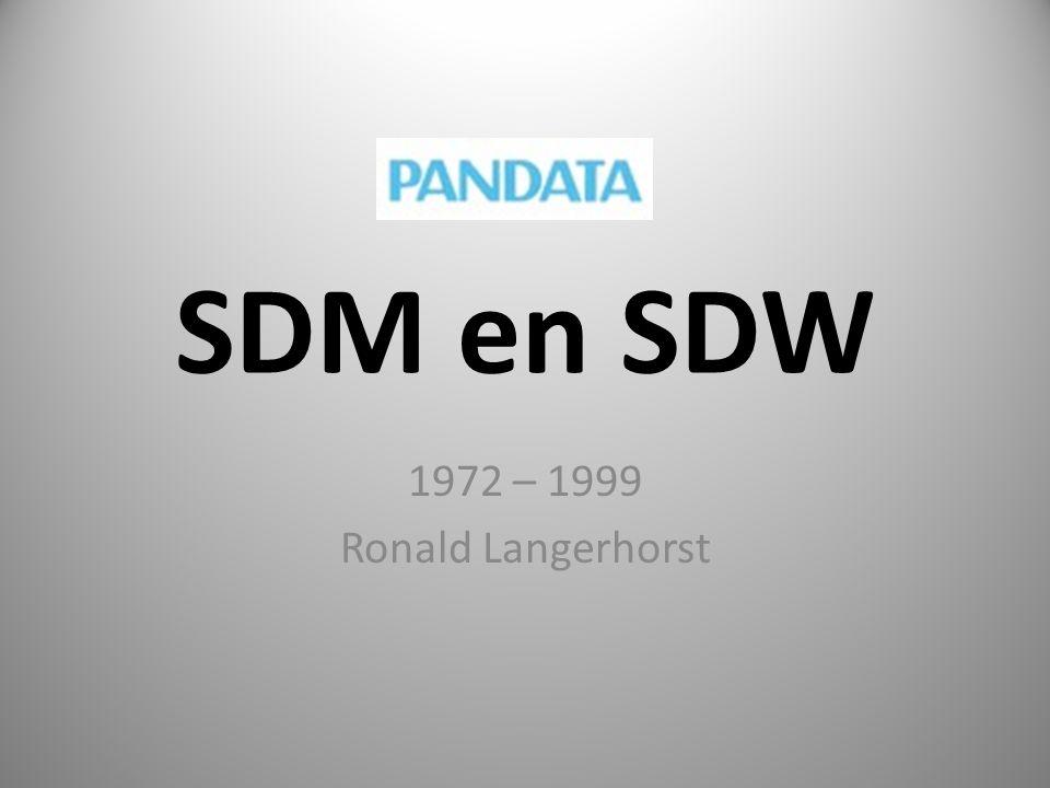 SDM en SDW 1972 – 1999 Ronald Langerhorst