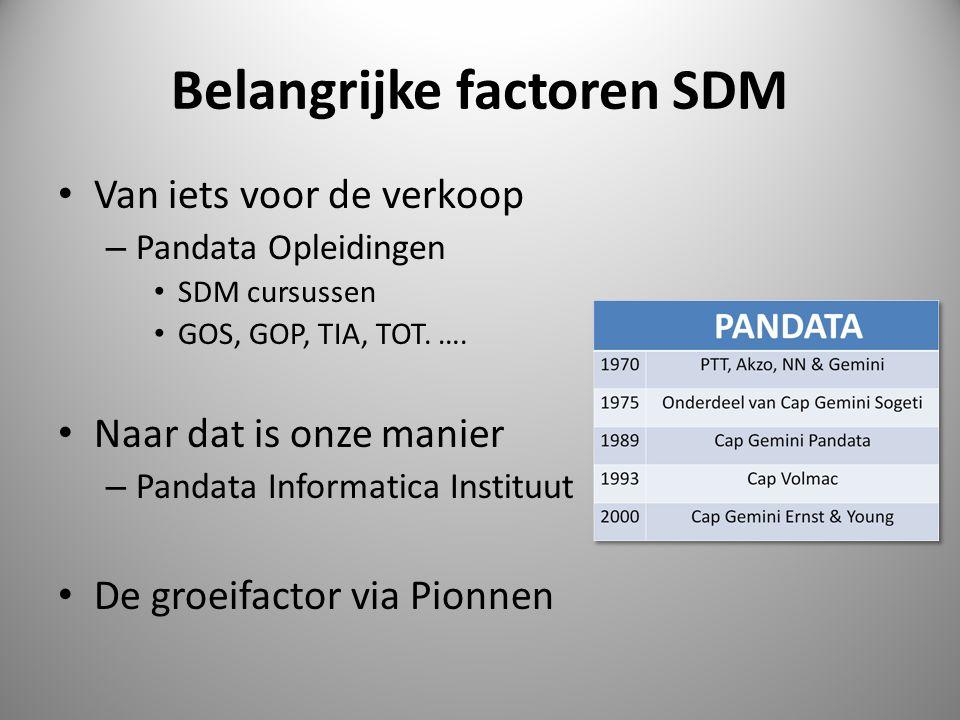 Belangrijke factoren SDM