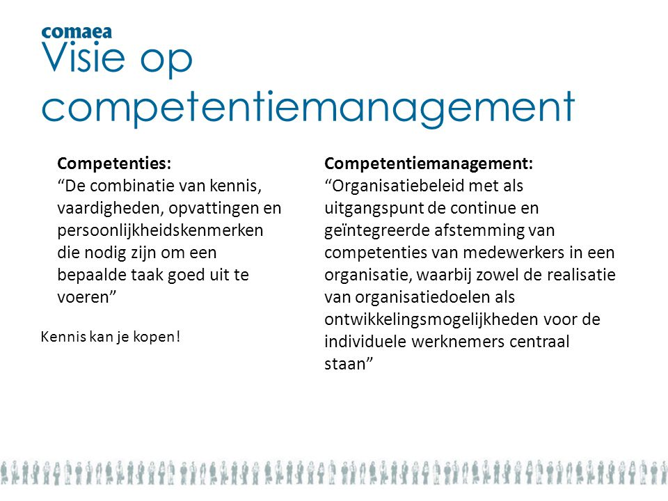Visie op competentiemanagement