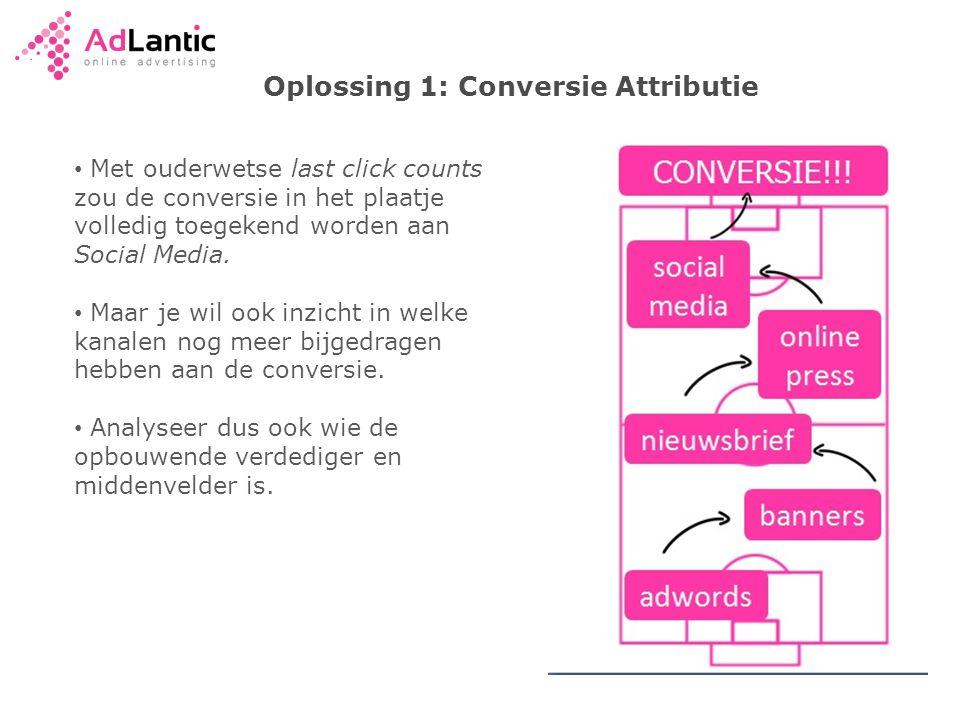 Oplossing 1: Conversie Attributie