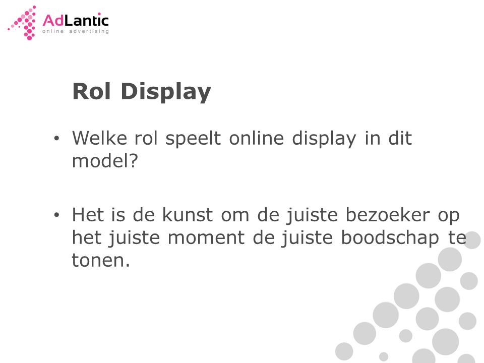 Rol Display Welke rol speelt online display in dit model