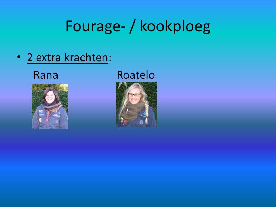 Fourage- / kookploeg 2 extra krachten: Rana Roatelo