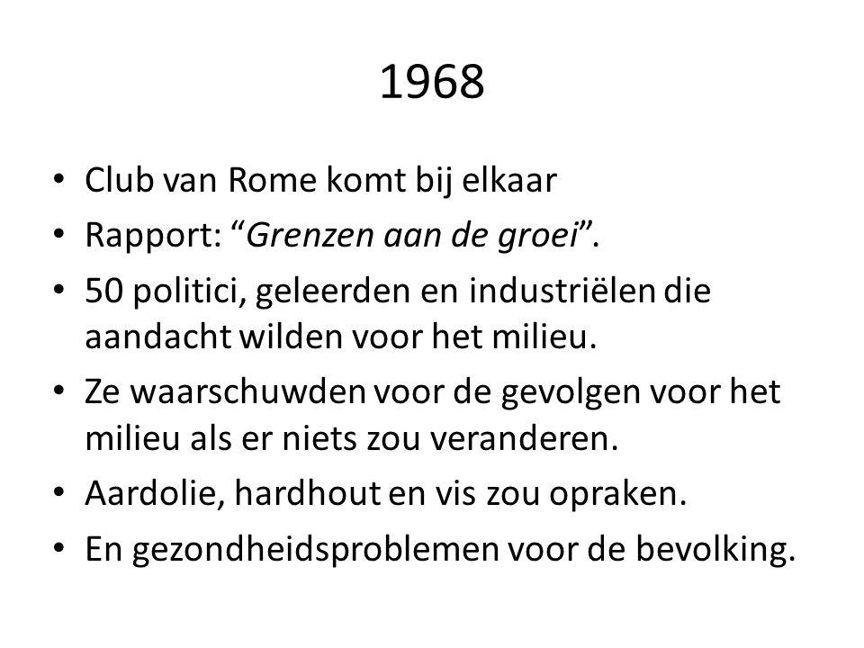 1968 Club van Rome komt bij elkaar Rapport: Grenzen aan de groei .