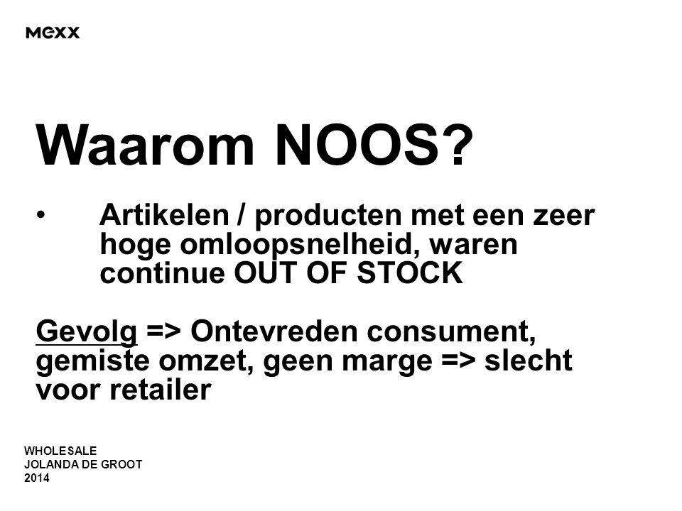 Waarom NOOS Artikelen / producten met een zeer hoge omloopsnelheid, waren continue OUT OF STOCK.