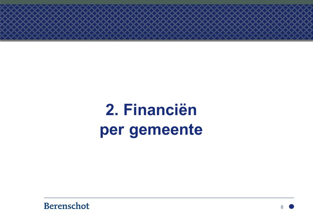 2. Financiën per gemeente
