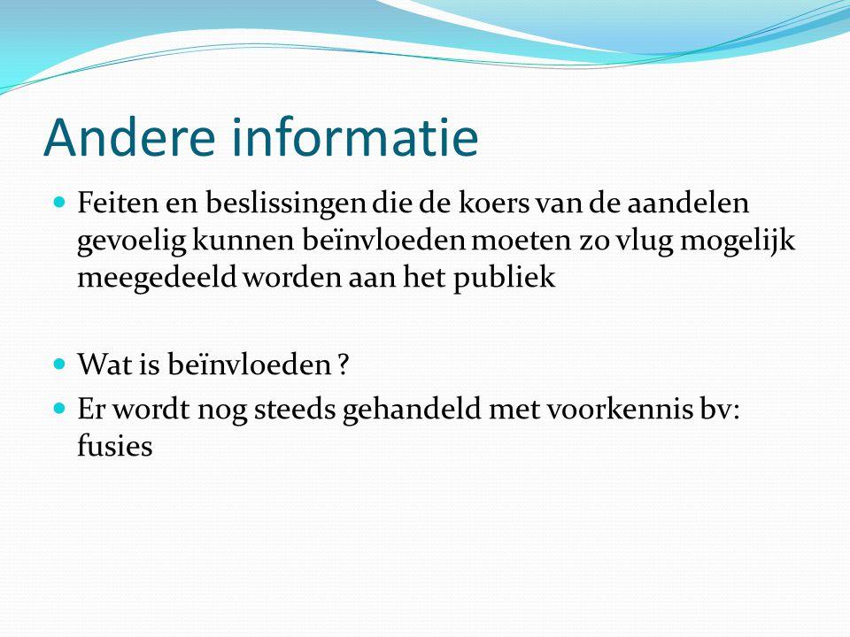 Andere informatie