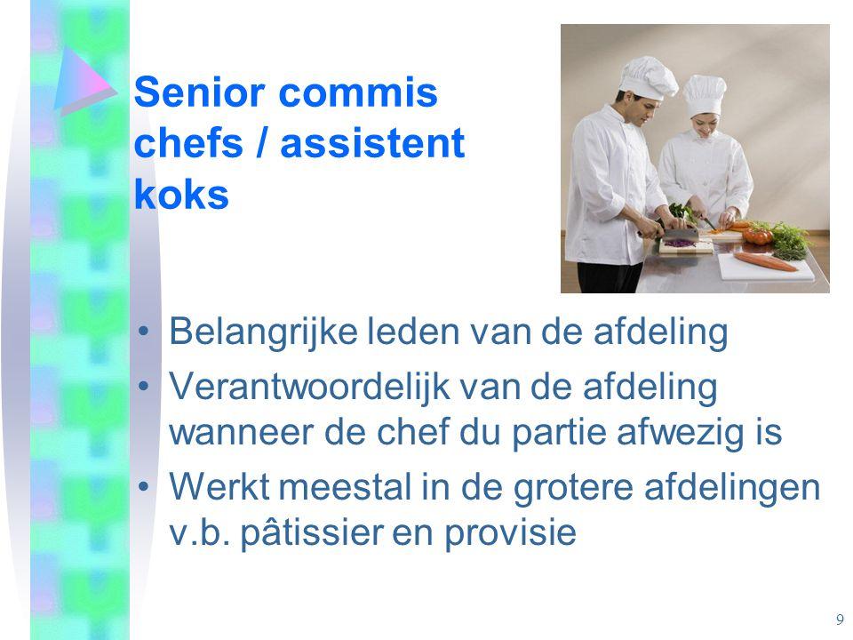 Senior commis chefs / assistent koks