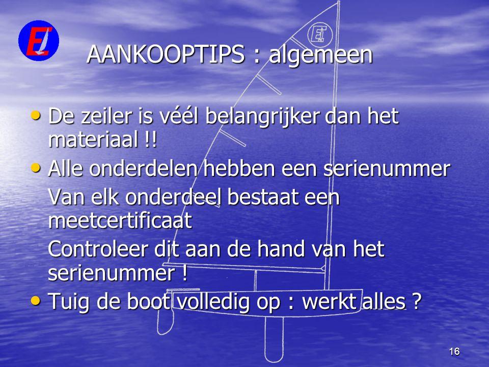 AANKOOPTIPS : algemeen