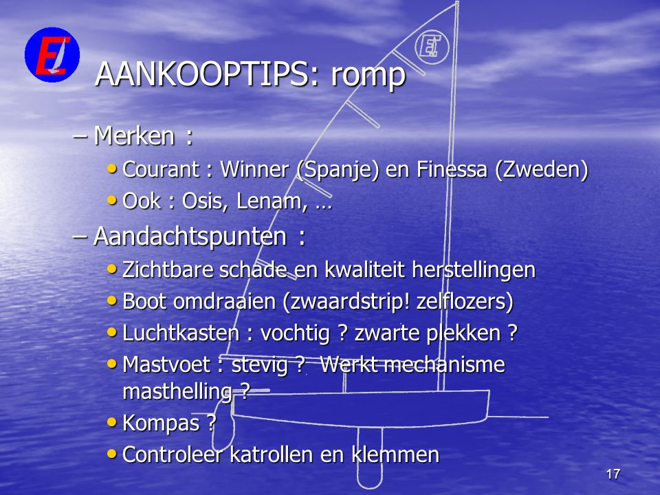 AANKOOPTIPS: romp Merken : Aandachtspunten :