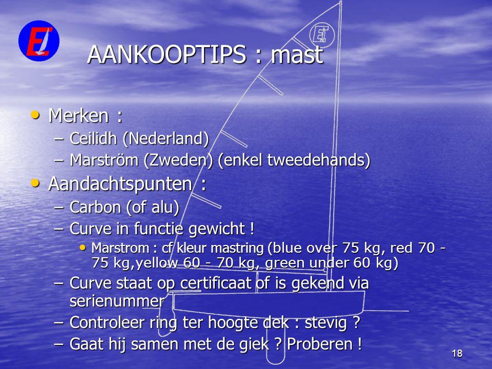 AANKOOPTIPS : mast Merken : Aandachtspunten : Ceilidh (Nederland)