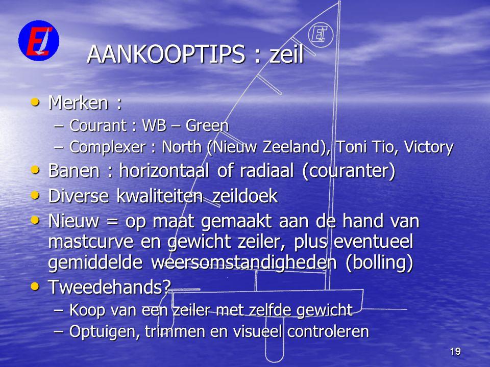 AANKOOPTIPS : zeil Merken : Banen : horizontaal of radiaal (couranter)