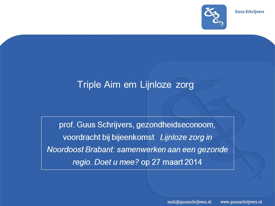 Triple Aim: theorie en model