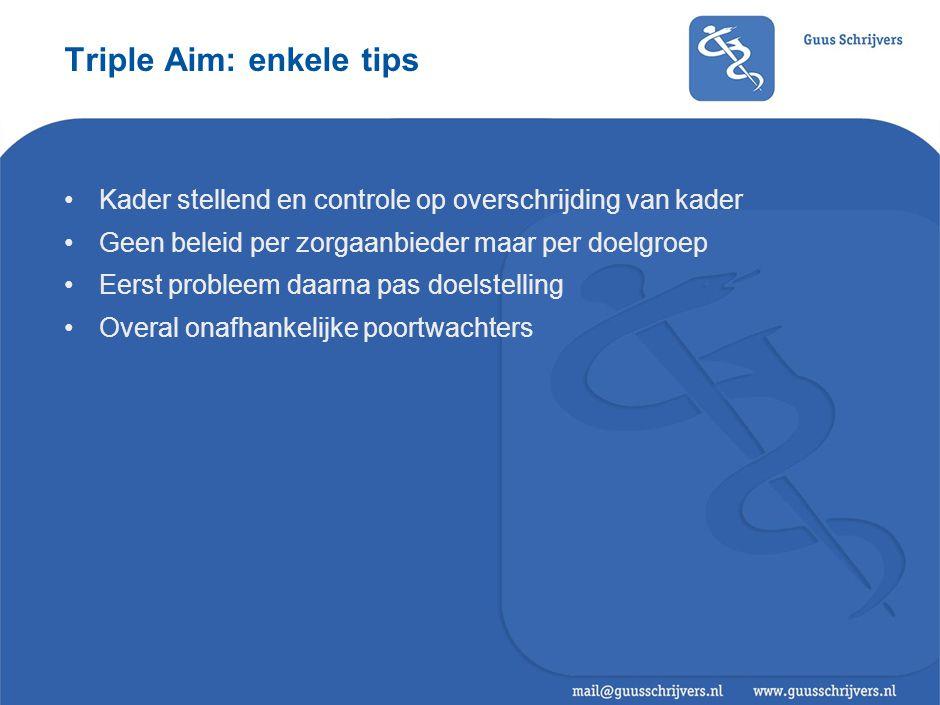 Triple Aim: enkele doelgroepen