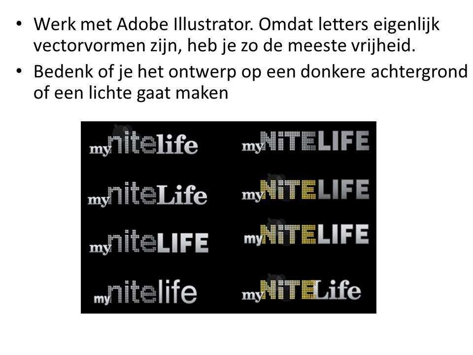 Werk met Adobe Illustrator