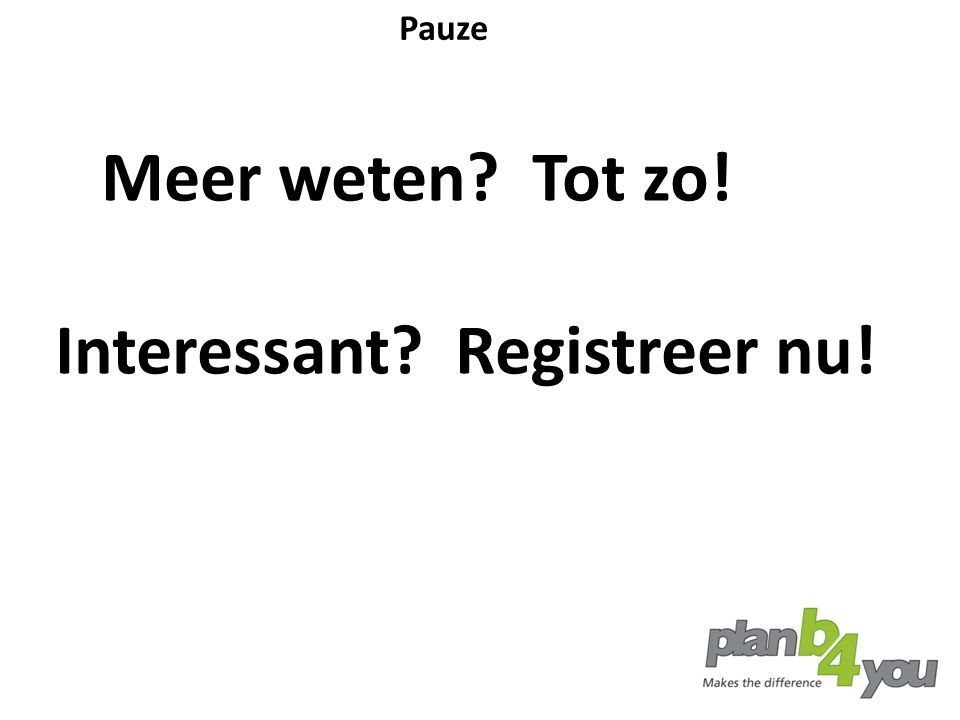 Interessant Registreer nu!